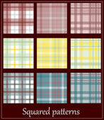 9 plaid patterns. — Stock Vector