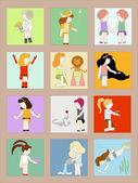 Horoscope signs. — Stock Vector