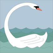 White swan — Stock Vector
