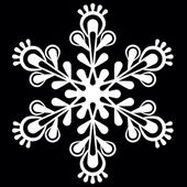 Decorative snowflake. — Stock Vector
