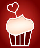 Paper cut frame stylized as cupcake. — Stock Vector
