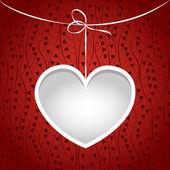 καρδιά σε ένα πλαίσιο συμβολοσειρά. — Διανυσματικό Αρχείο
