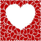 Moldura coração vermelho — Vetor de Stock