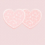 Pink valentine card template — Stock Vector