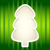 Zielona księga wyciąć drzewo jodły ramki. — Wektor stockowy