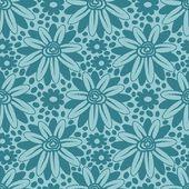 Mavi çiçek dantel seamless modeli. — Stok Vektör