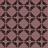 Renda líquida floral preta sobre fundo rosa. — Vetor de Stock