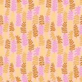 Seamless floral pattern in warm colors. — Stock Vector