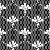 White lace seamless background. — Stock Vector