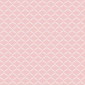 Seamless pattern with white lace on pink background. — Stock Vector