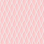 Seamless pattern with white net on pink background. — Stock Vector