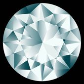 Round decorative diamond — Vector de stock