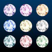 Colorful gemstones set. — Stock Vector