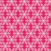 Padrão sem emenda com flocos de neve em fundo rosa. — Vetorial Stock