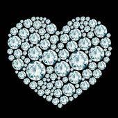 Heart diamond composition — Stock Vector