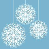 Tres copos de nieve — Vector de stock