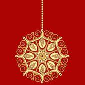 黄金のクリスマスの装飾 — ストックベクタ