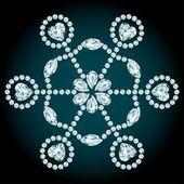 Snowflake diamond composition — Stock Vector