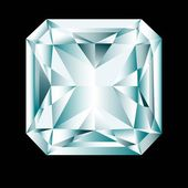 "Diamond cut ""radiant"" — Stockvector"