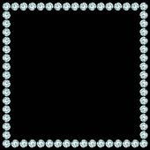 Square frame made of diamonds. — Stock Vector