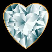 Diamant herz — Stockvektor