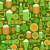 Seamless pattern of Saint Patrick's Day related objects  — Stock Vector