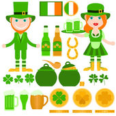 Set of Saint Patrick's Day related elements. — Stock Vector