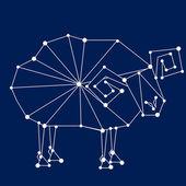 Aries zodiac sign.  — Stock Vector