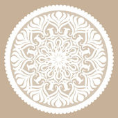Round decorative lacy element — Stock Vector