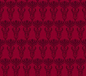 Seamless wallpaper pattern in red colors — Stock Vector
