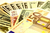 Money Dollars Euro — Stock Photo