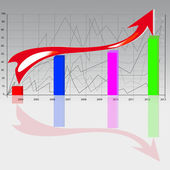 The graph in gradient background — Stok Vektör