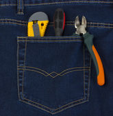 Instruments in your pocket for convenience — Stock Photo