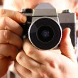 Man leading photographing — Stock Photo