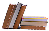 Book stack and standing up — Stockfoto