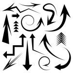 ベクトルの矢印アイコン セット — ストックベクタ