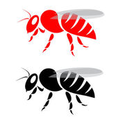 Vector image of an bee — Vettoriale Stock