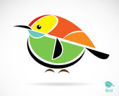 Vector image of an bird — Stock Vector