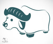 Vector image of an buffalo — Stock Vector