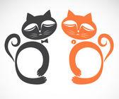 一只猫的矢量图像 — 图库矢量图片
