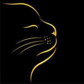 Vector de la imagen de un gato — Vector de stock