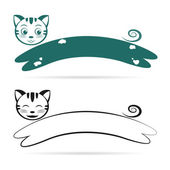 Vector image of an cat — Vector de stock