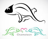 Vector image of an chameleon — Vector de stock