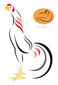 Vector image of an cock — Vector de stock