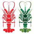 Stock Vector: Vector image of lobster