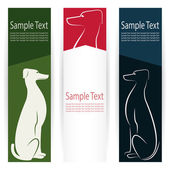 Vector image of an dog banners . — Vettoriale Stock