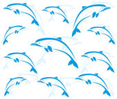 Wallpaper images of dolphins — Stock Vector