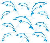 обои дельфинов — Cтоковый вектор