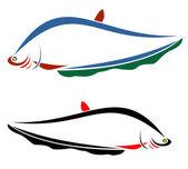 Image vectorielle d'un poisson — Vecteur