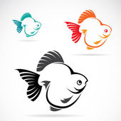 Vector image of an goldfish — Vector de stock